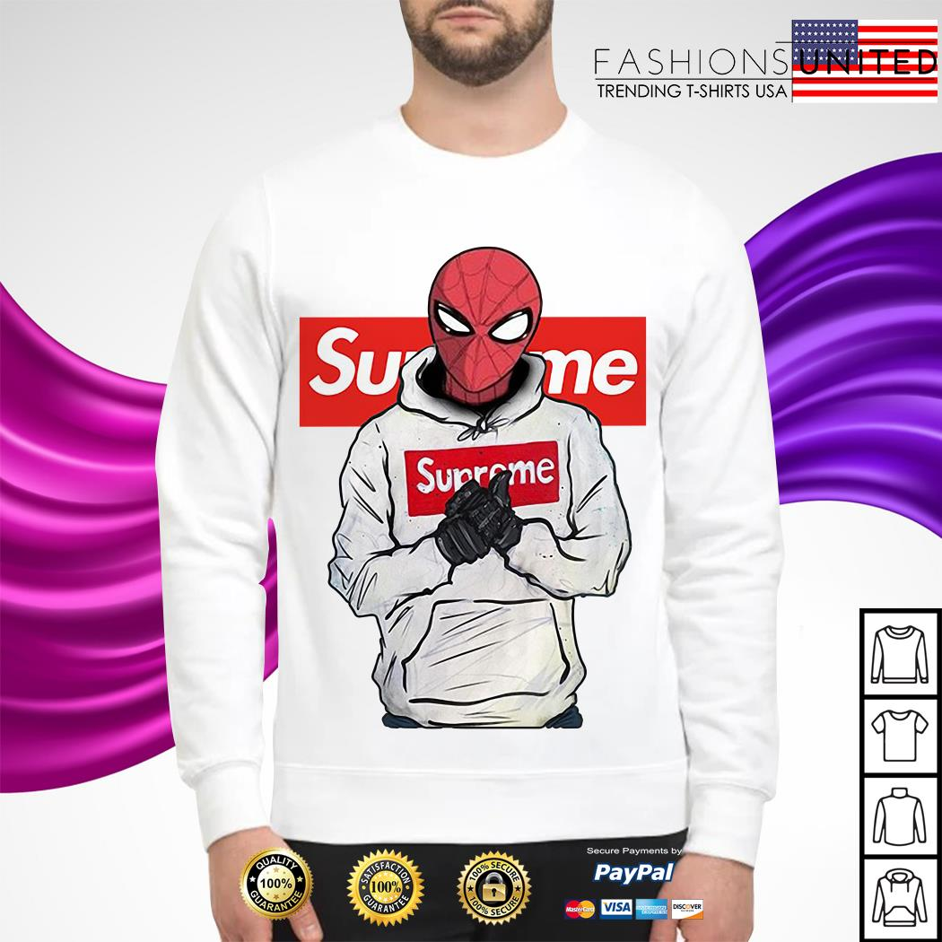Spider-Man wearing Supreme Sweater