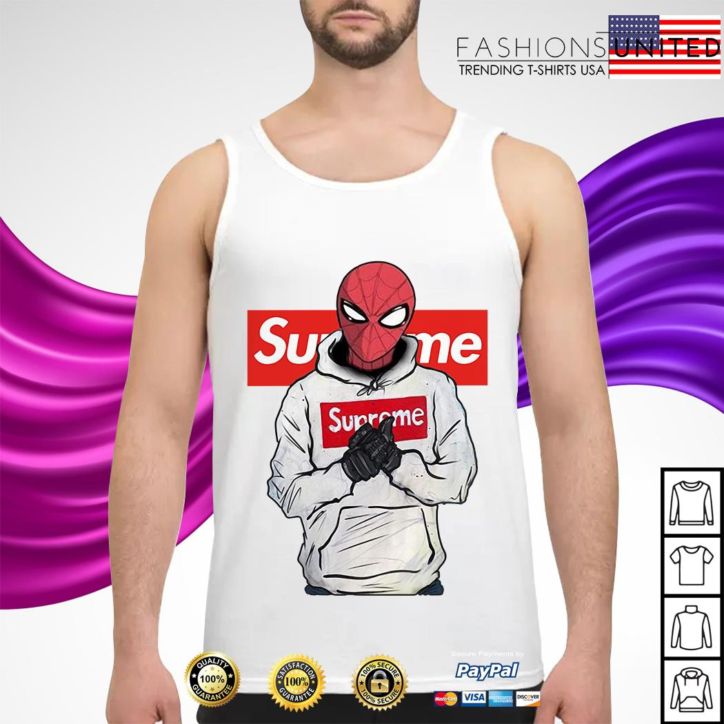 Spider-Man wearing Supreme Tank-top