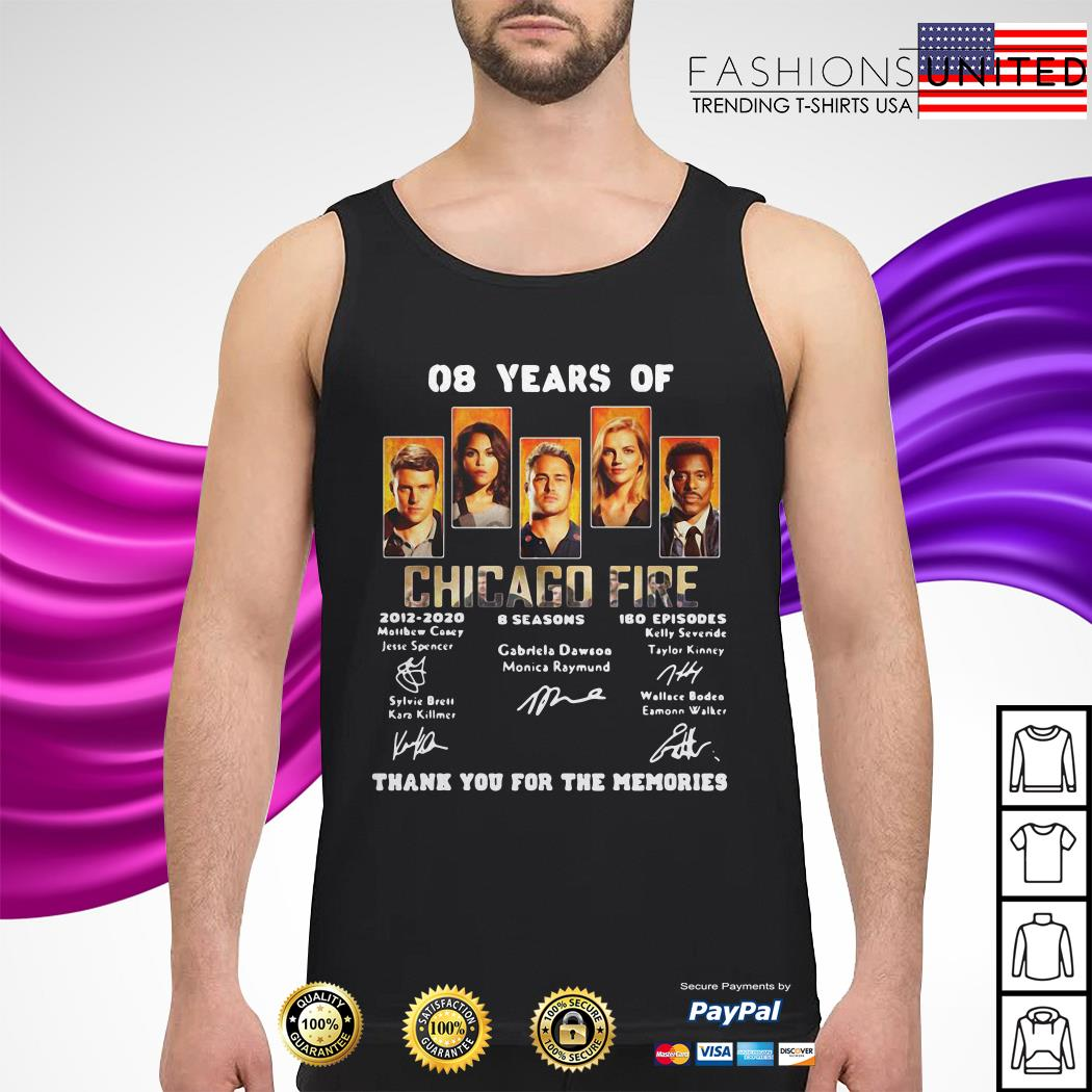 08 years of Chicago Fire thank you for the memories tank-top