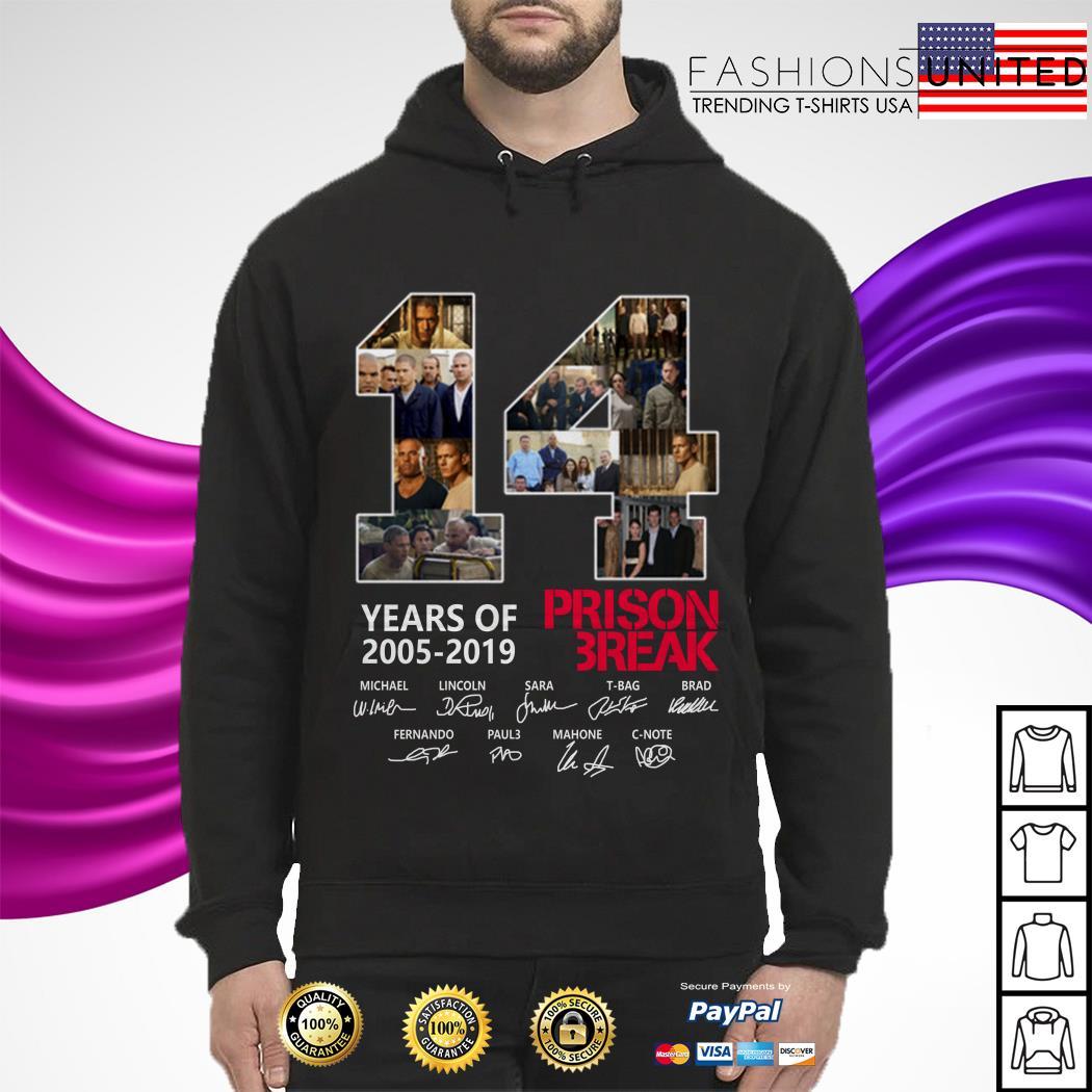 14 years of 2005 2019 Prison Break signature hoodie