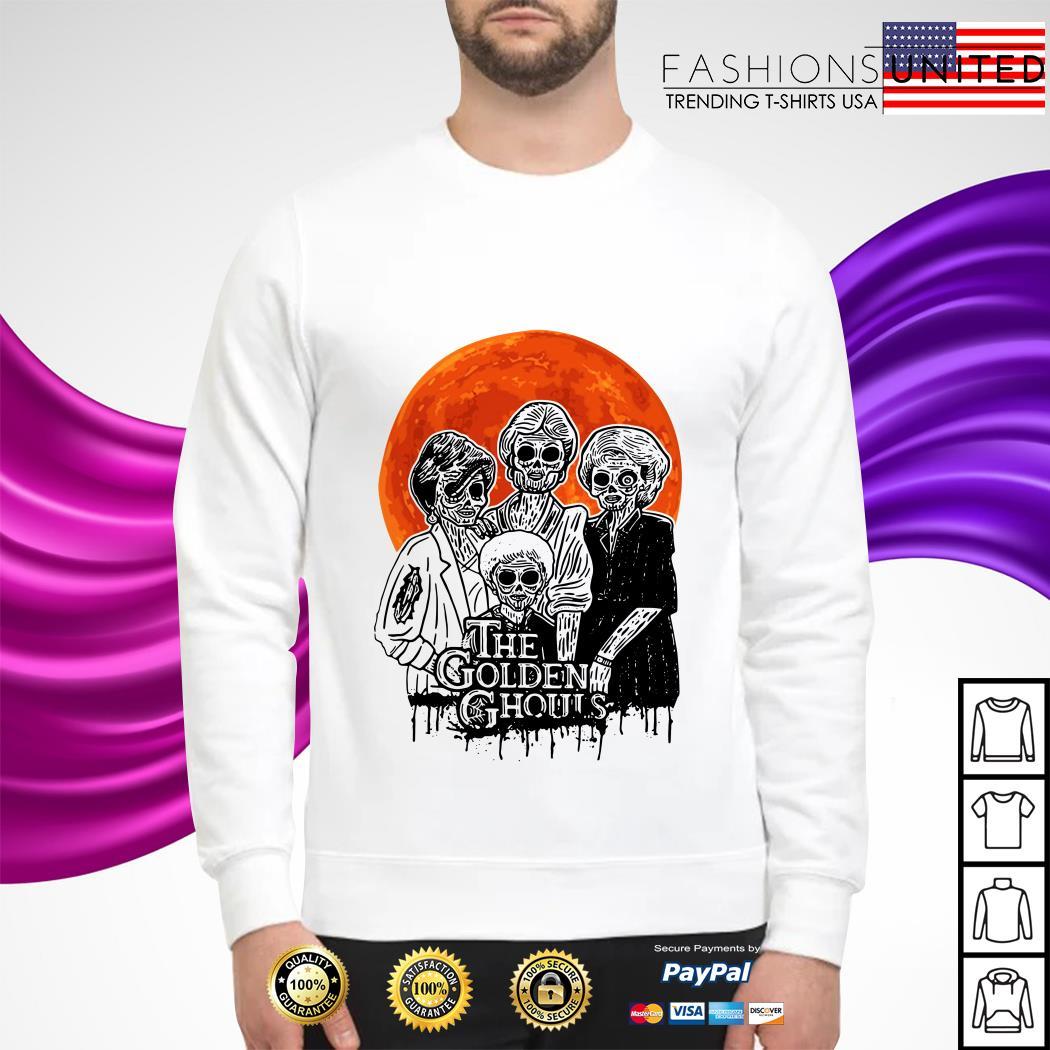 The Golden Ghouls Halloween moon sweater