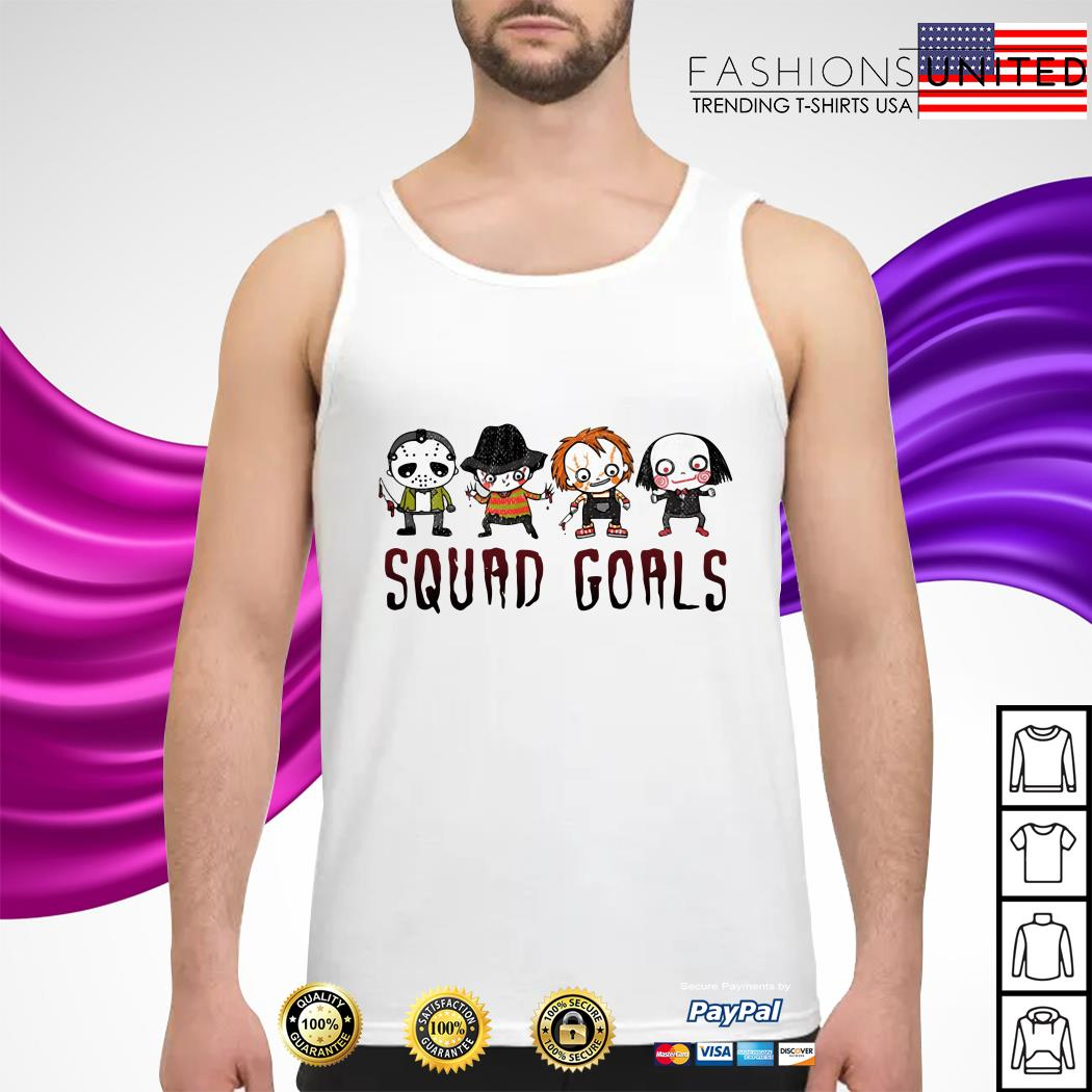 Horror character movie squad goals tank-top