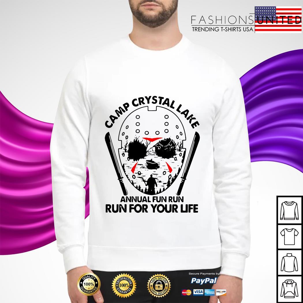 Jason Voorhees Camp crystal lake annual fun run run for your life sweater