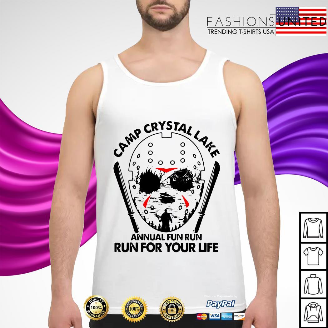 Jason Voorhees Camp crystal lake annual fun run run for your life tank-top