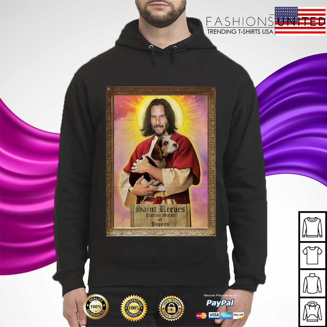Keanu Reeves Saint Reeves patron saint of puppies hoodie
