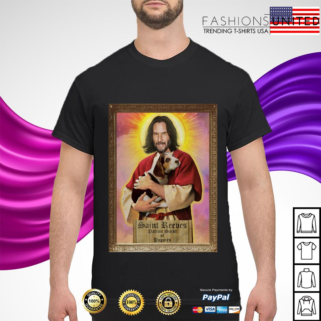 Keanu Reeves Saint Reeves patron saint of puppies shirt