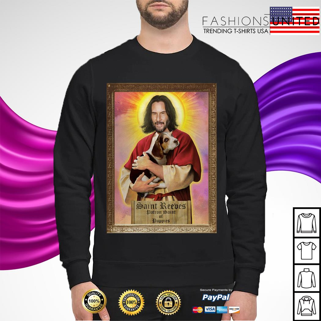 Keanu Reeves Saint Reeves patron saint of puppies sweater
