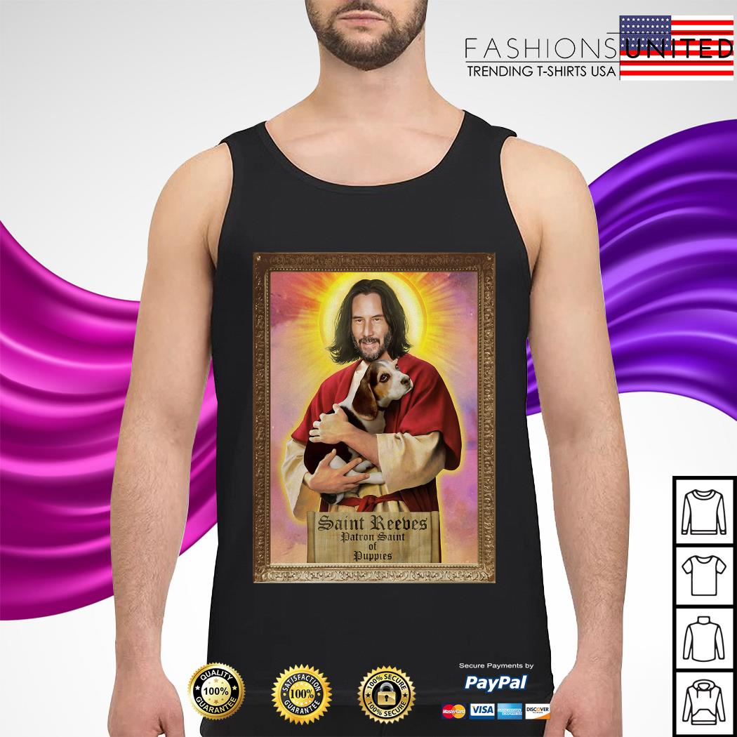 Keanu Reeves Saint Reeves patron saint of puppies tank-top