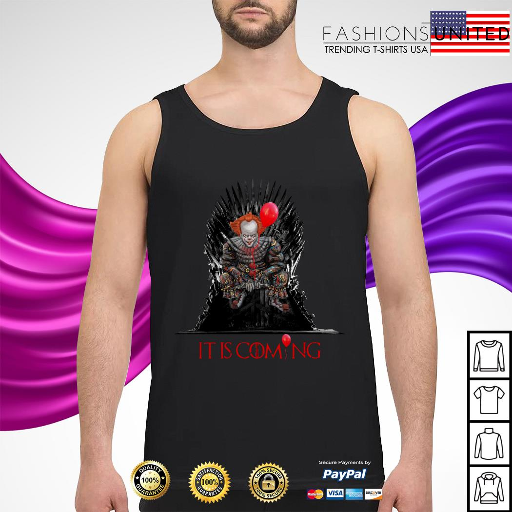 Pennywise It is coming Game of Thrones Halloween tank-top