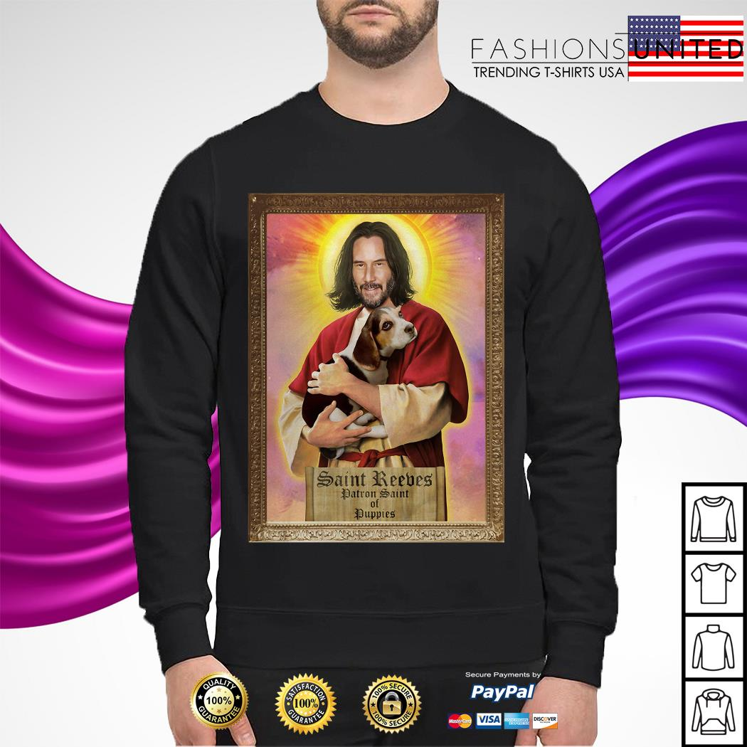 Saint Reeves patron saint of puppies sweater