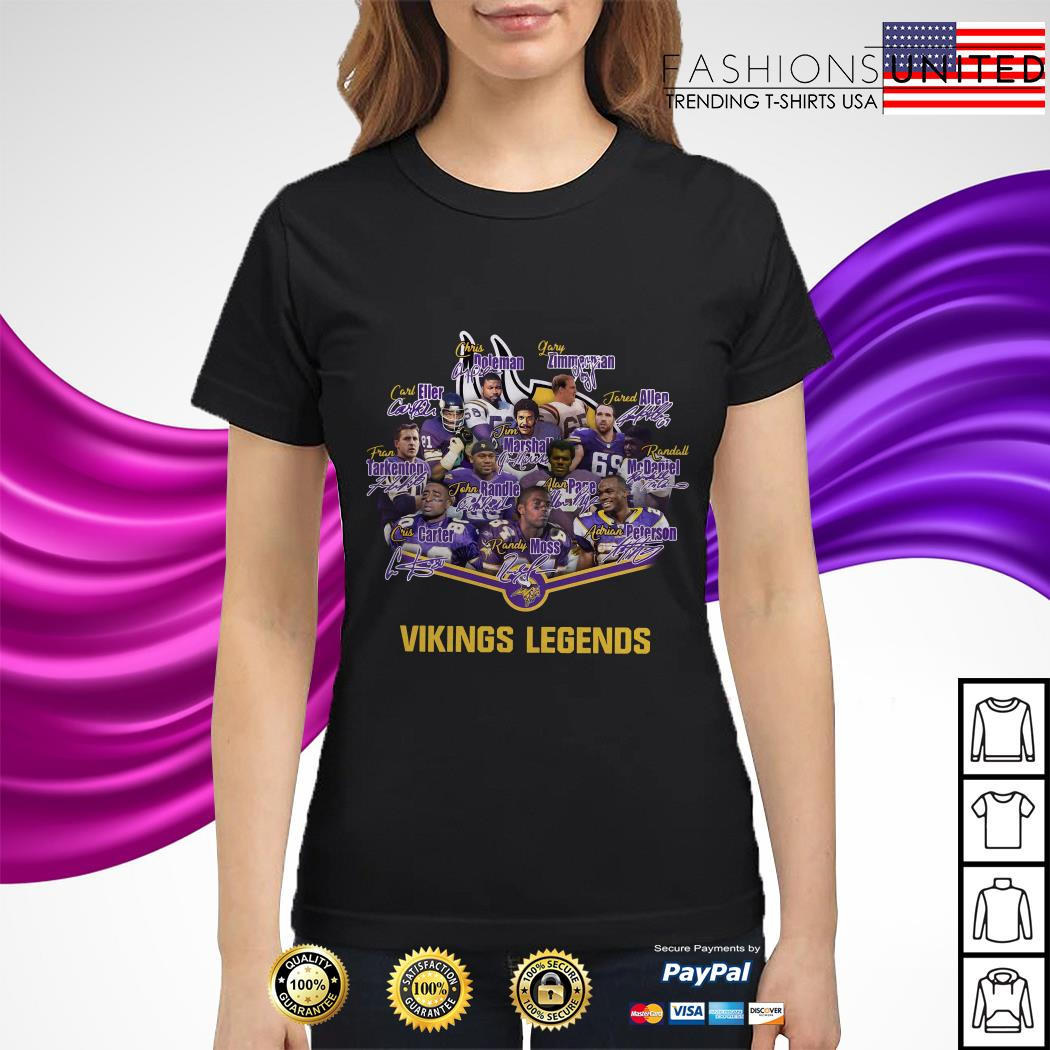Team Minnesota Vikings legends signature ladies tee