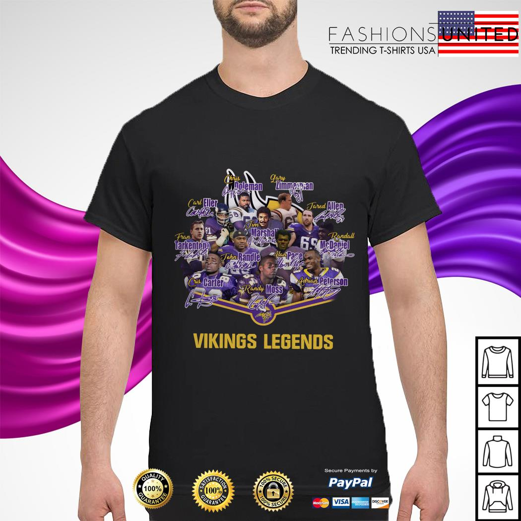 Team Minnesota Vikings legends signature shirt
