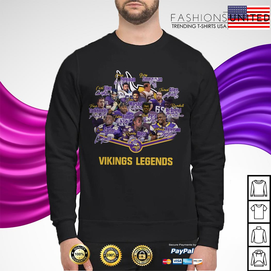 Team Minnesota Vikings legends signature sweater