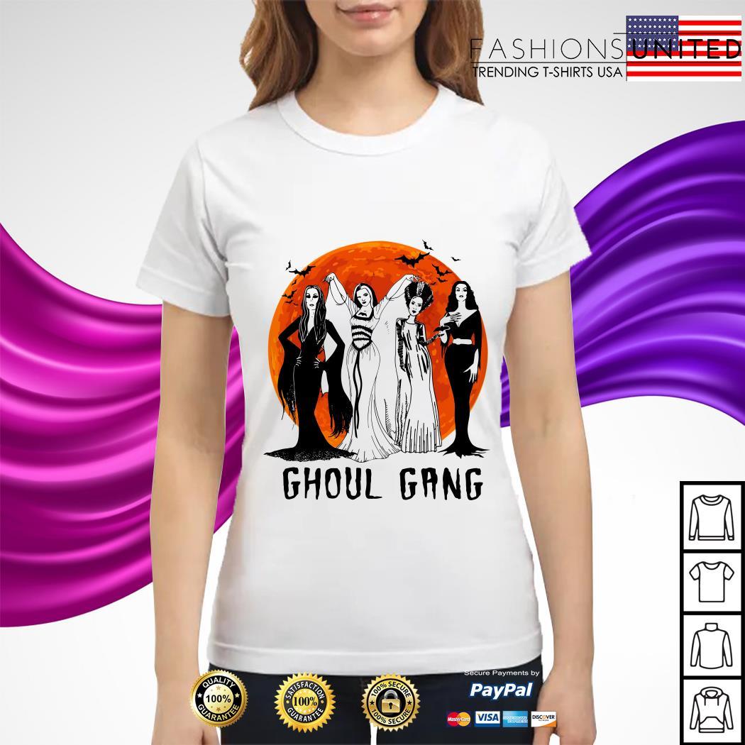 Vogue Ghoul Gang Halloween moon ladies tee