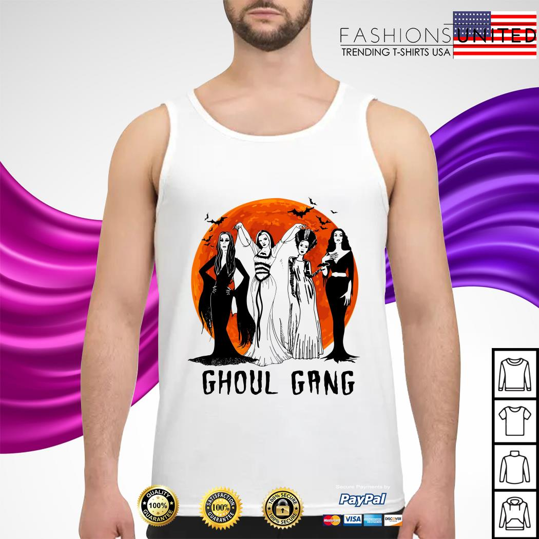 Vogue Ghoul Gang Halloween moon tank-top