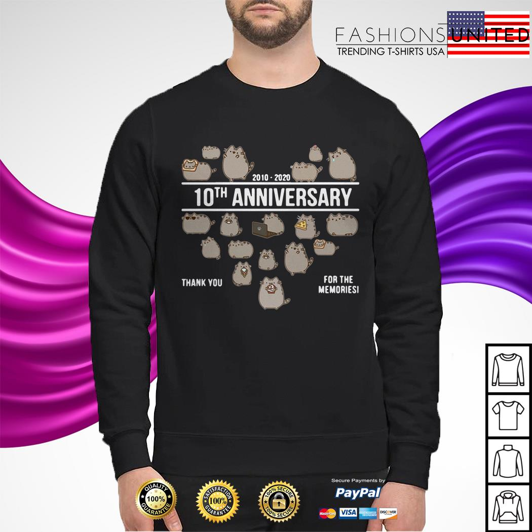 Cat 2010 2020 10th anniversary thank you for the memories sweater