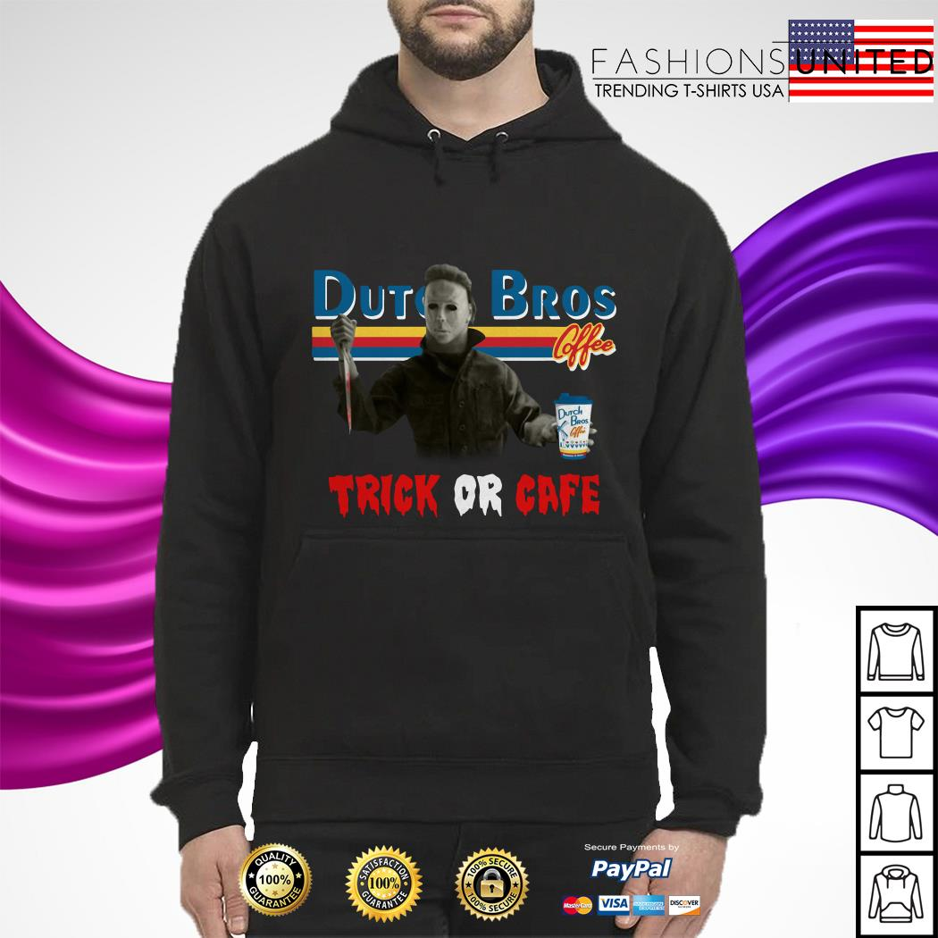 CheerFa Trick Or Cafe Dutch Bros Michael Myers hoodie