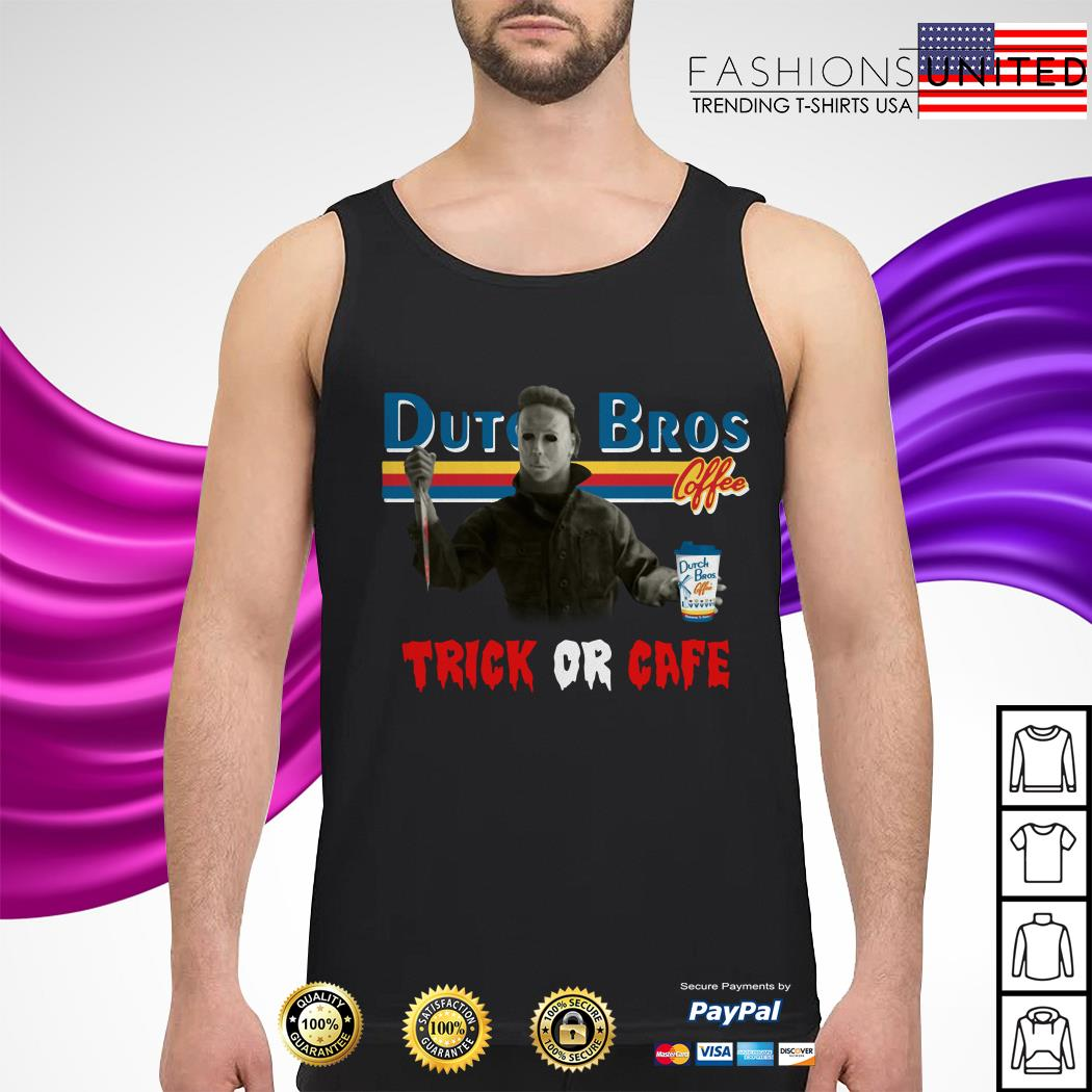 CheerFa Trick Or Cafe Dutch Bros Michael Myers tank-top