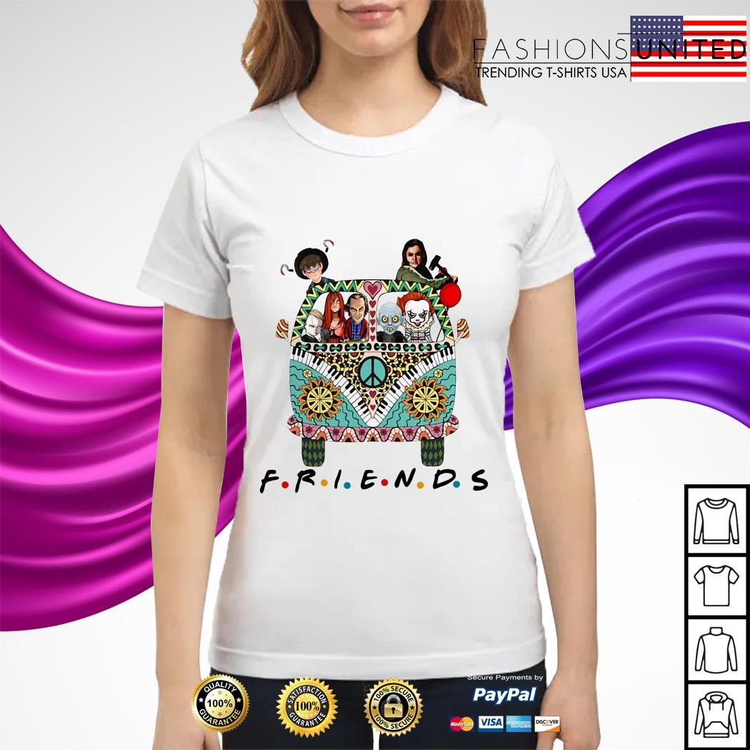 Horror character movie friends ladies tee