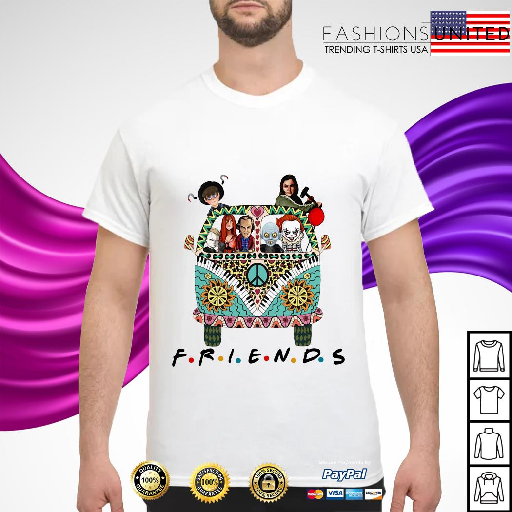 Horror character movie friends shirt
