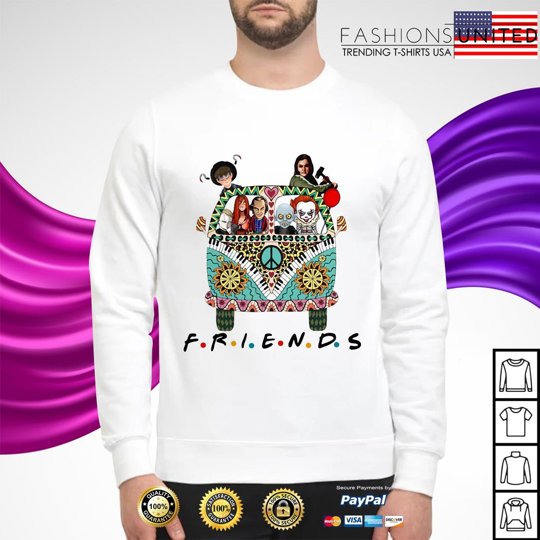 Horror character movie friends sweater