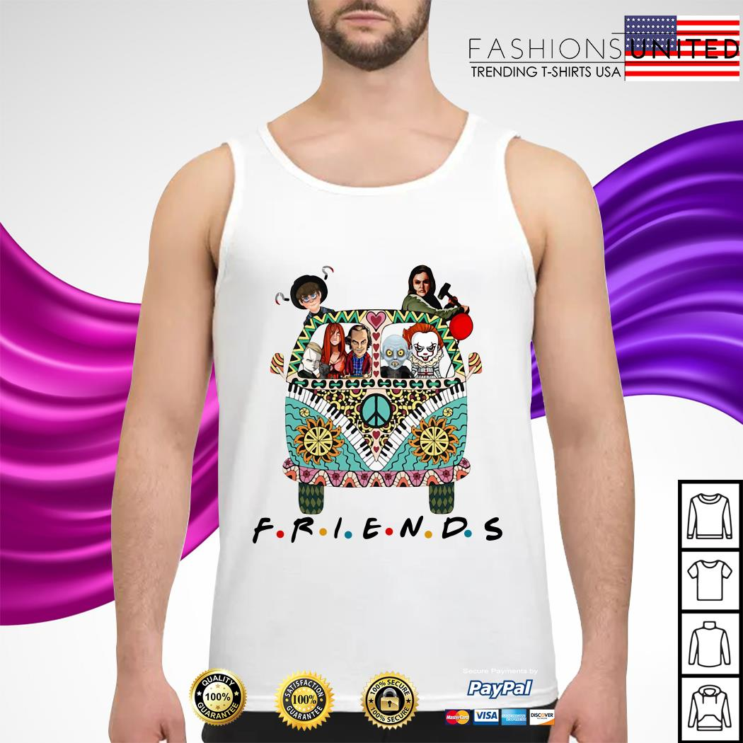 Horror character movie friends tank-top