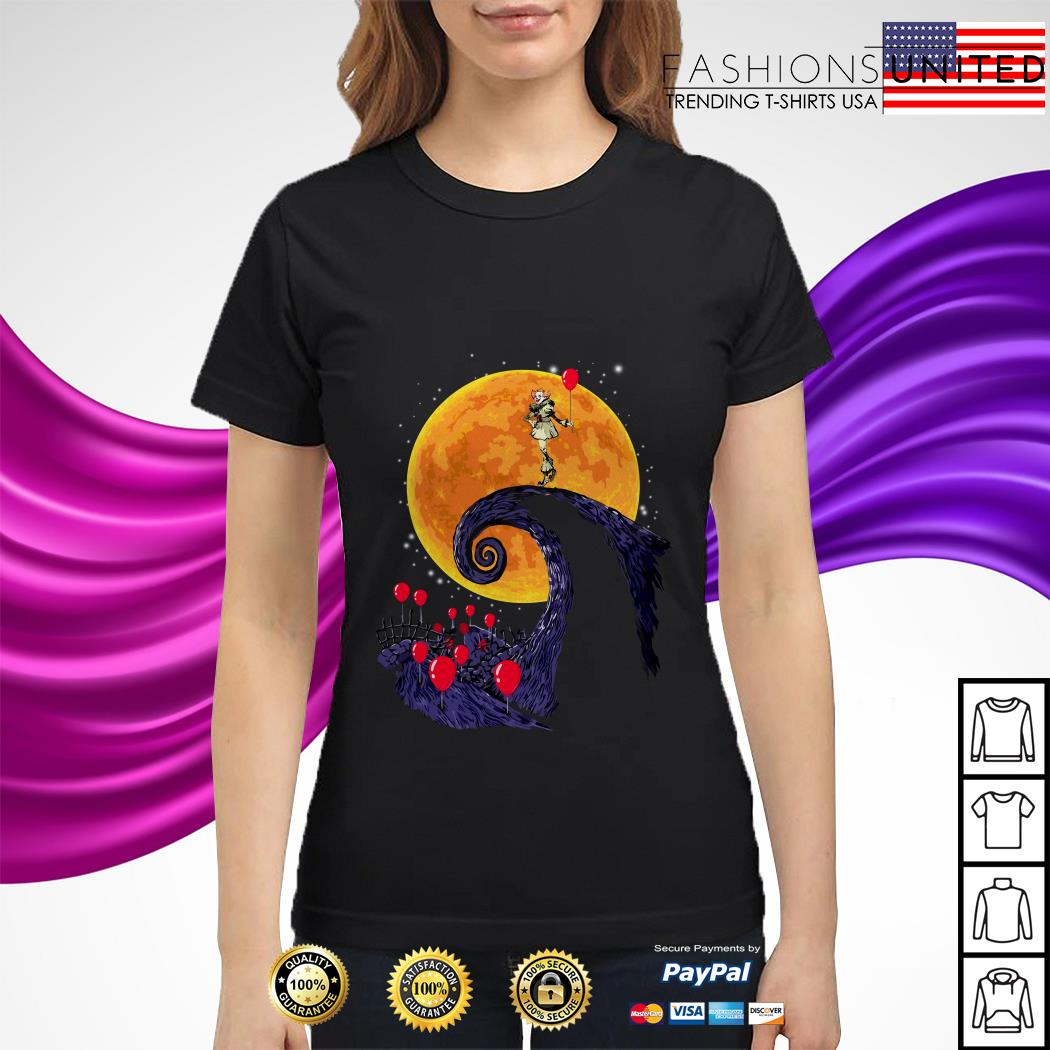 Pennywise the nightmare before christmas ladies tee