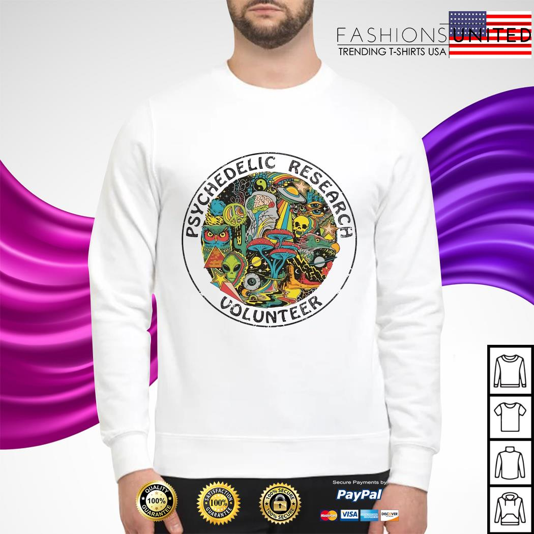 Psychedelic research volunteer sweater