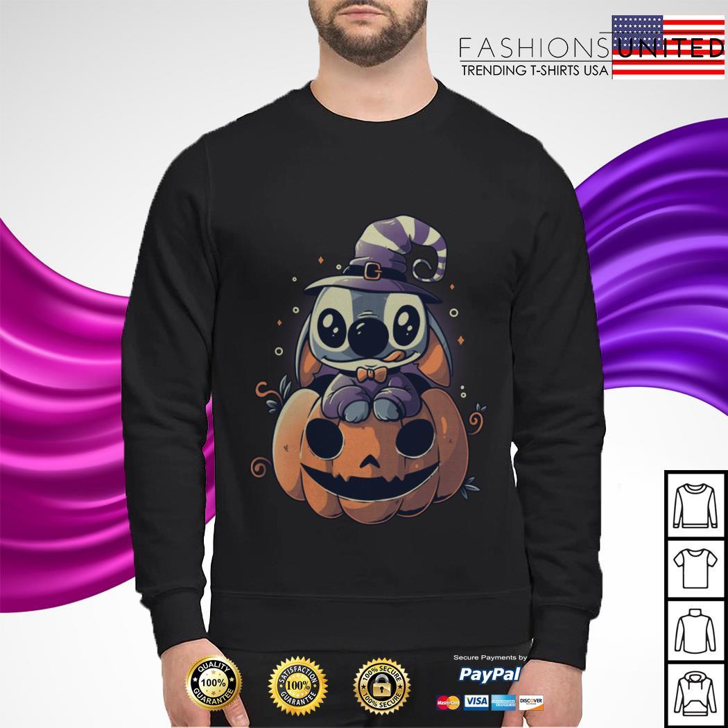Stitch Pumpkin Halloween sweater