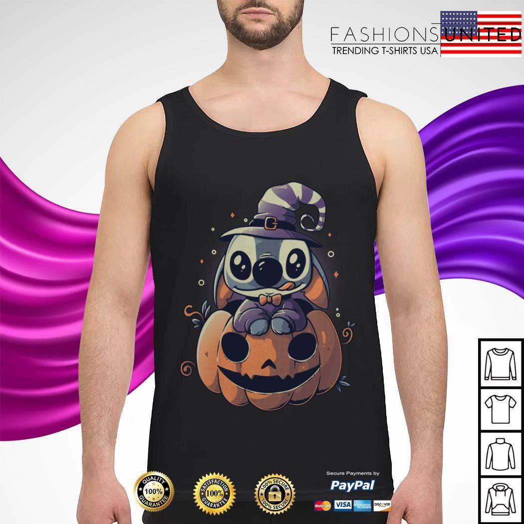 Stitch Pumpkin Halloween tank-top