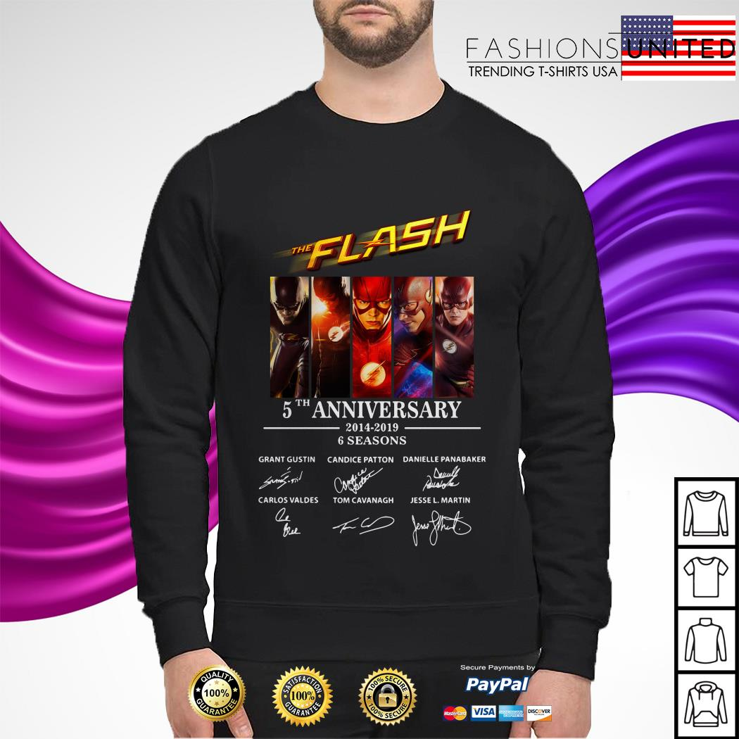 The Flash 5th anniversary 2014 2019 6 seasons signature sweater
