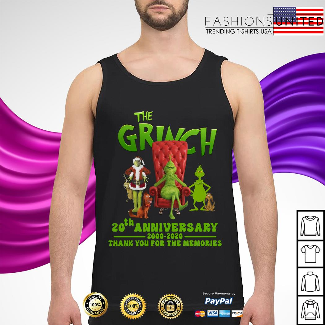 The Grinch 20th anniversary 2000 2020 thank you for the memories tank-top