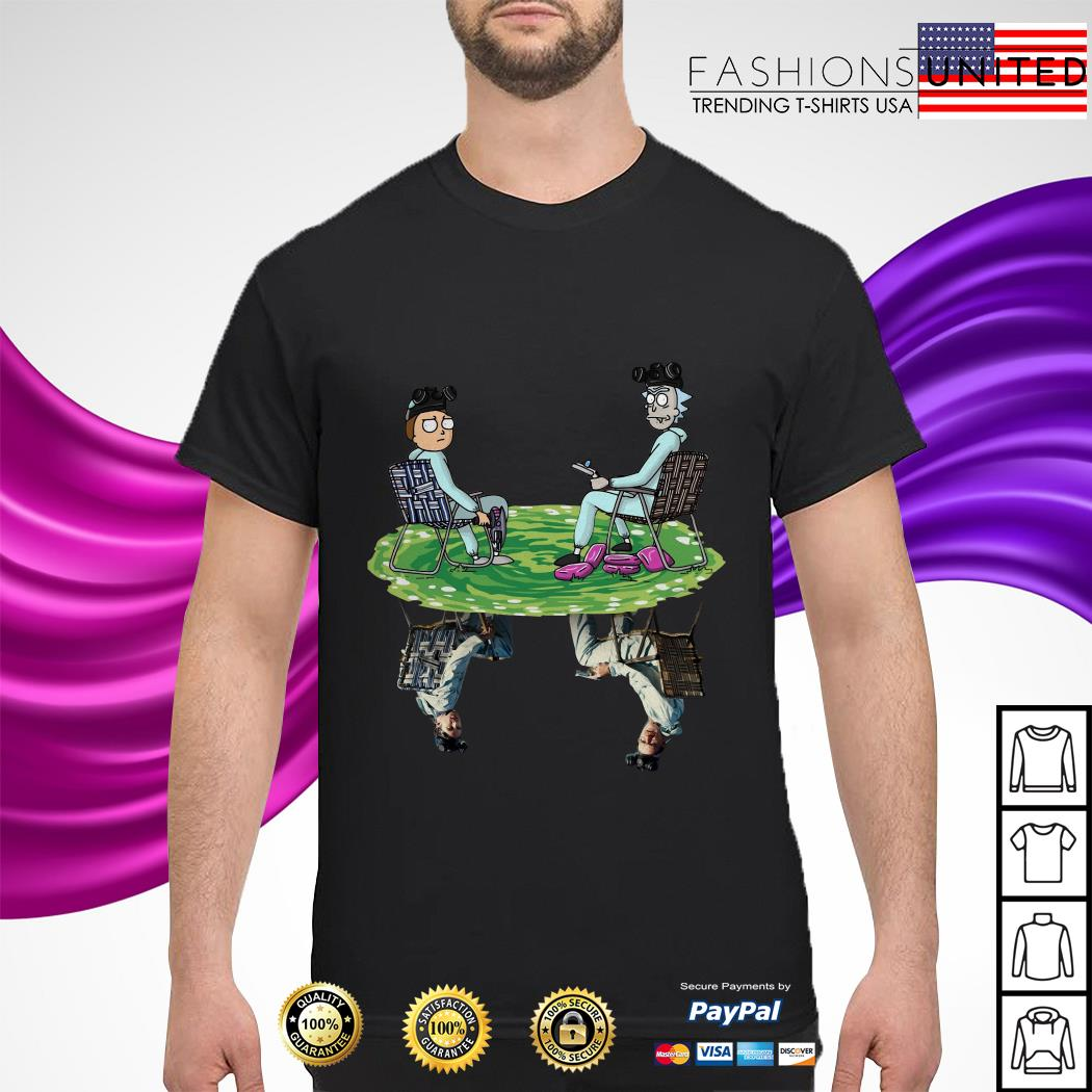 Rick and Morty water mirror relection Breaking Bad shirt