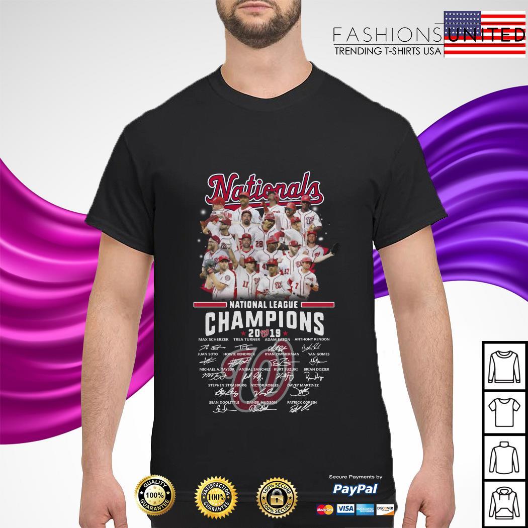 Washington Nationals league champions 2019 signature shirt