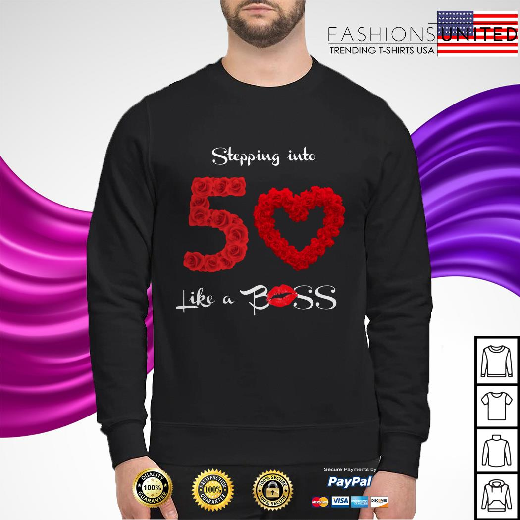 Stepping into 50 like a boss sweater