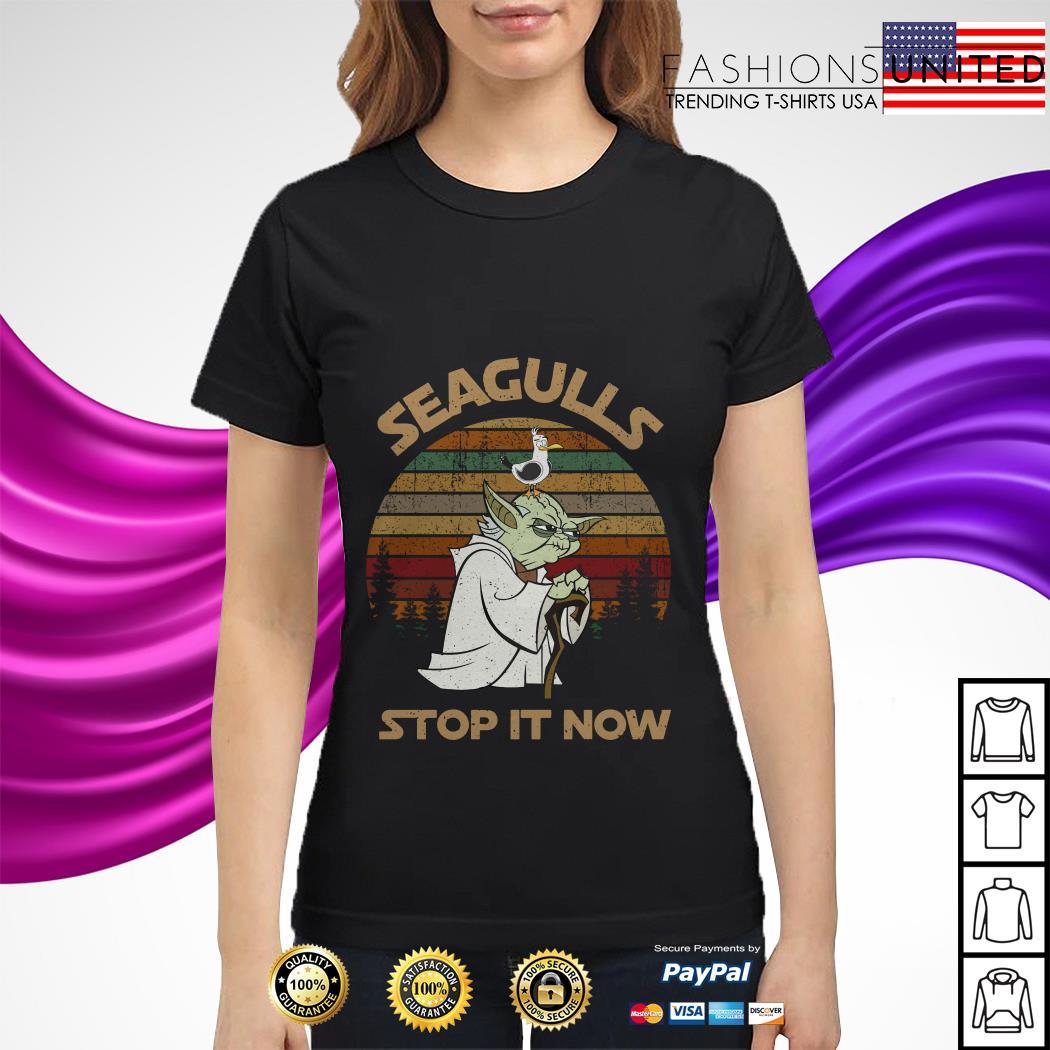 Yoda seagulls stop it now vintage ladies tee