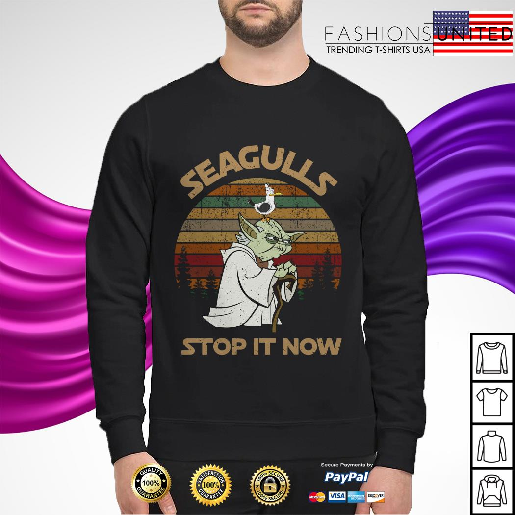 Yoda seagulls stop it now vintage sweater