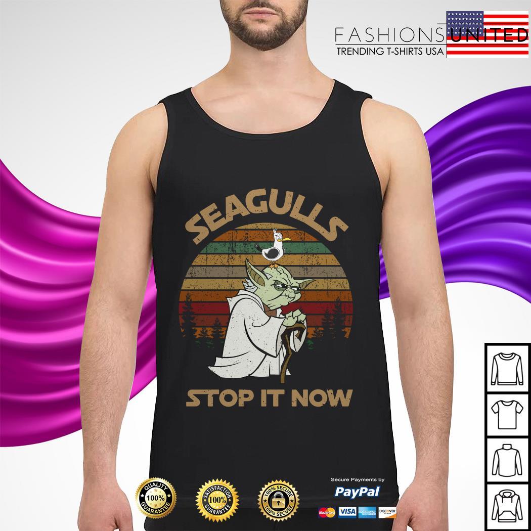 Yoda seagulls stop it now vintage tank-top