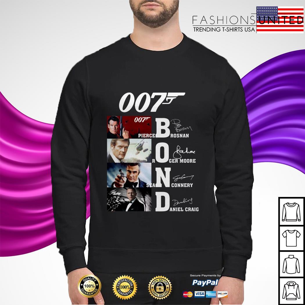 007 Pirece Brosnan Roger Moore Sean Connery Daniel Craig signature sweater