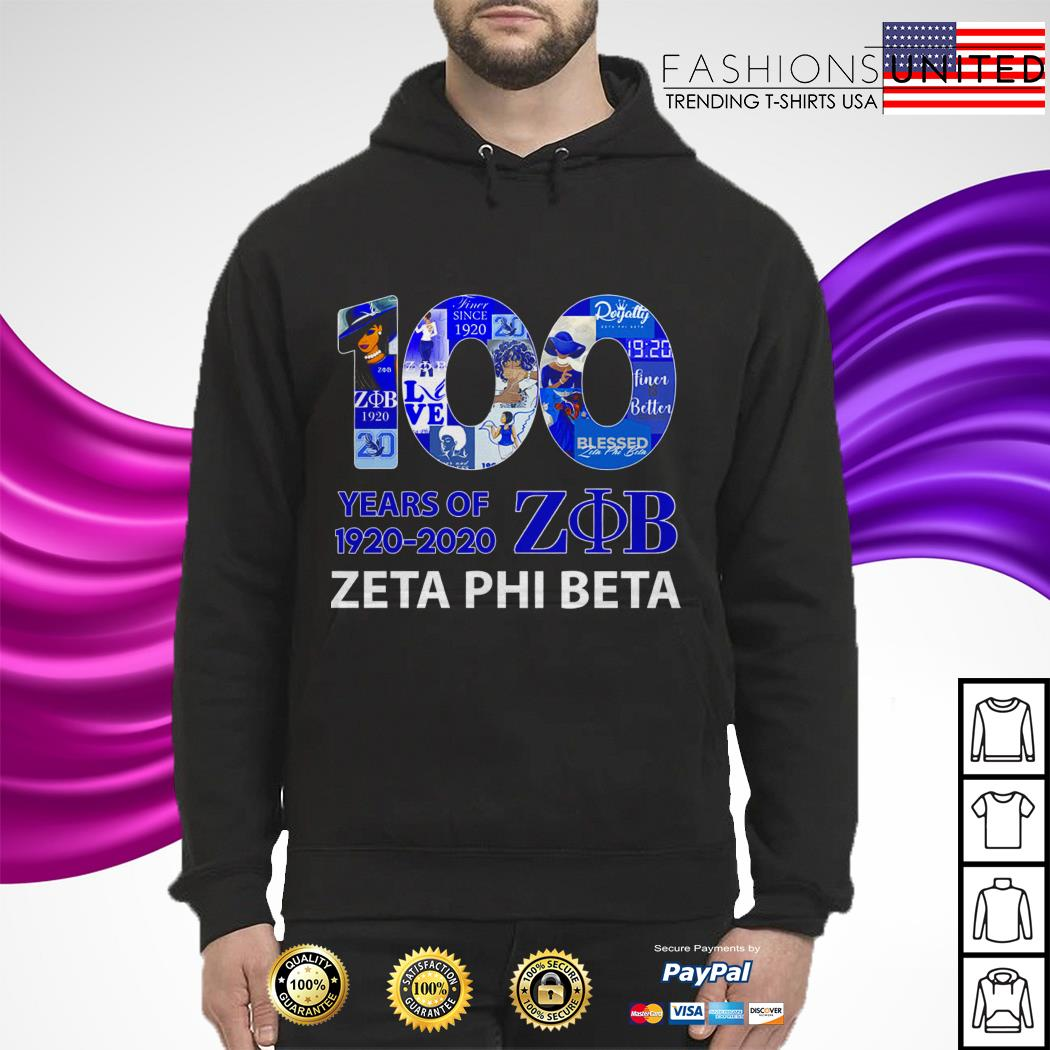 100 Years of 1920 2020 Zeta Phi Beta hoodie