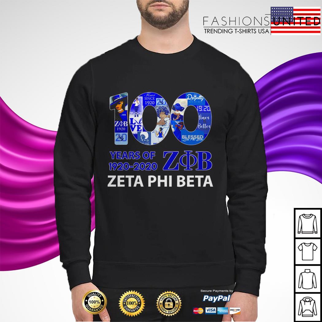 100 Years of 1920 2020 Zeta Phi Beta sweater