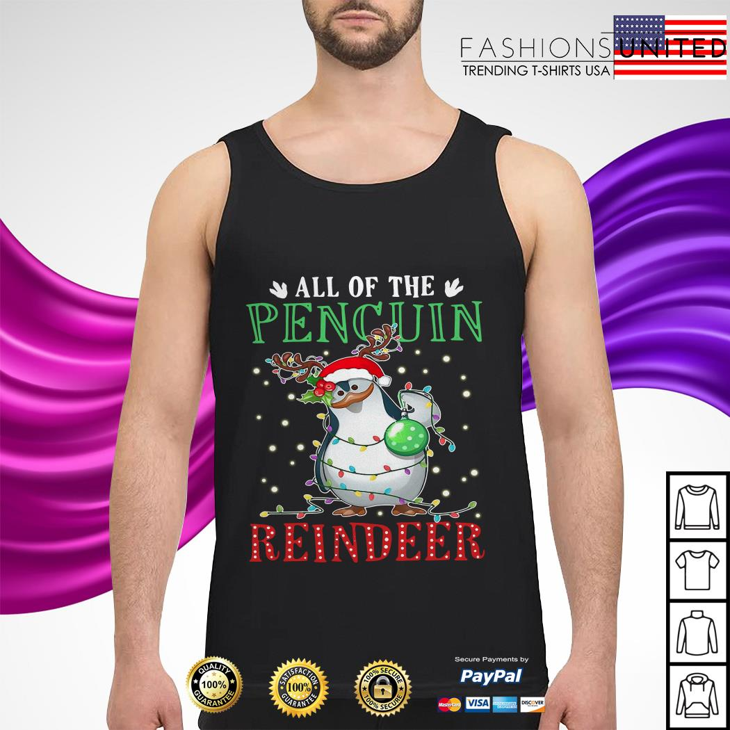 All of the Penguin reindeer Christmas tank-top