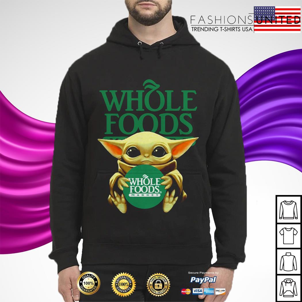 Baby Yoda hug Whole Foods Market hoodie