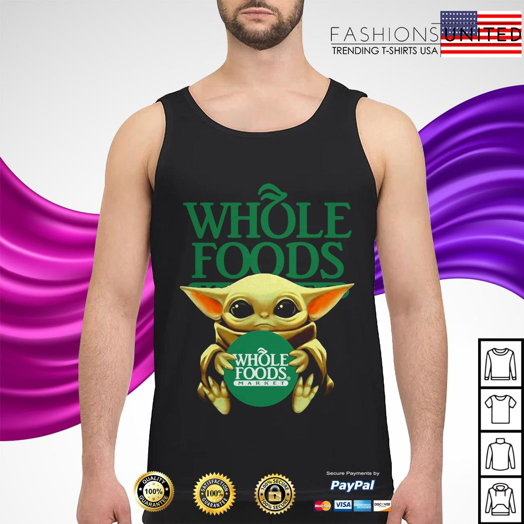 Baby Yoda hug Whole Foods Market tank-top