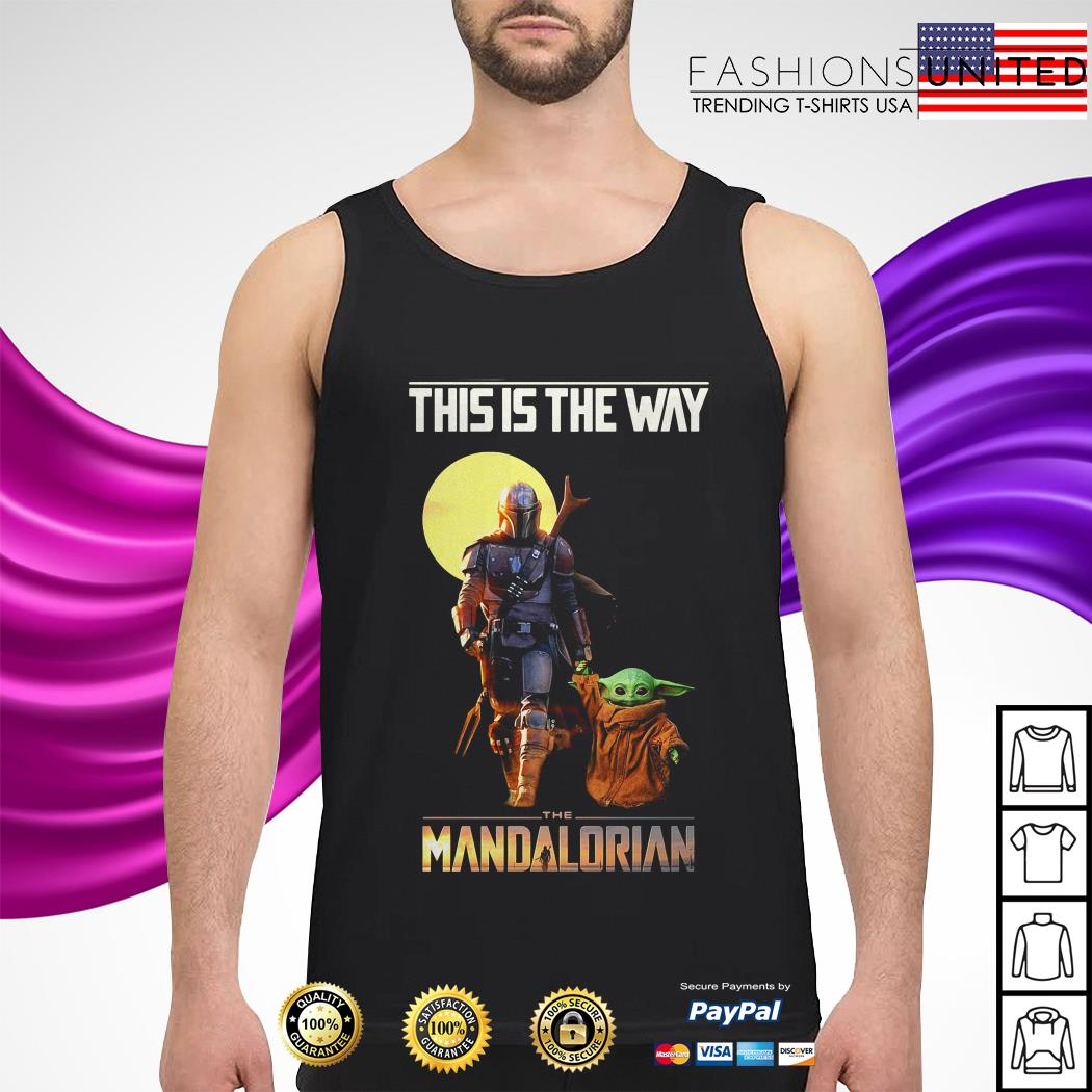 Baby Yoda this is the way The Mandalorian tank-top