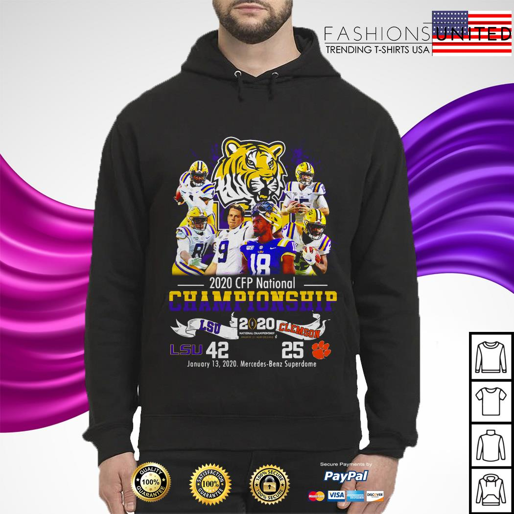 LSU Tigers 2020 CFP national championship LSU and Clemson hoodie
