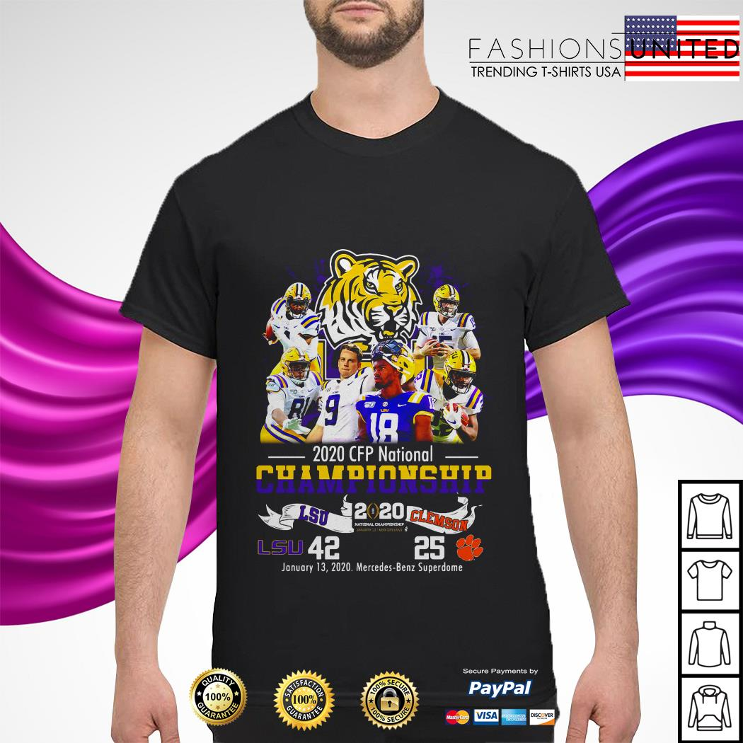LSU Tigers 2020 CFP national championship LSU and Clemson shirt