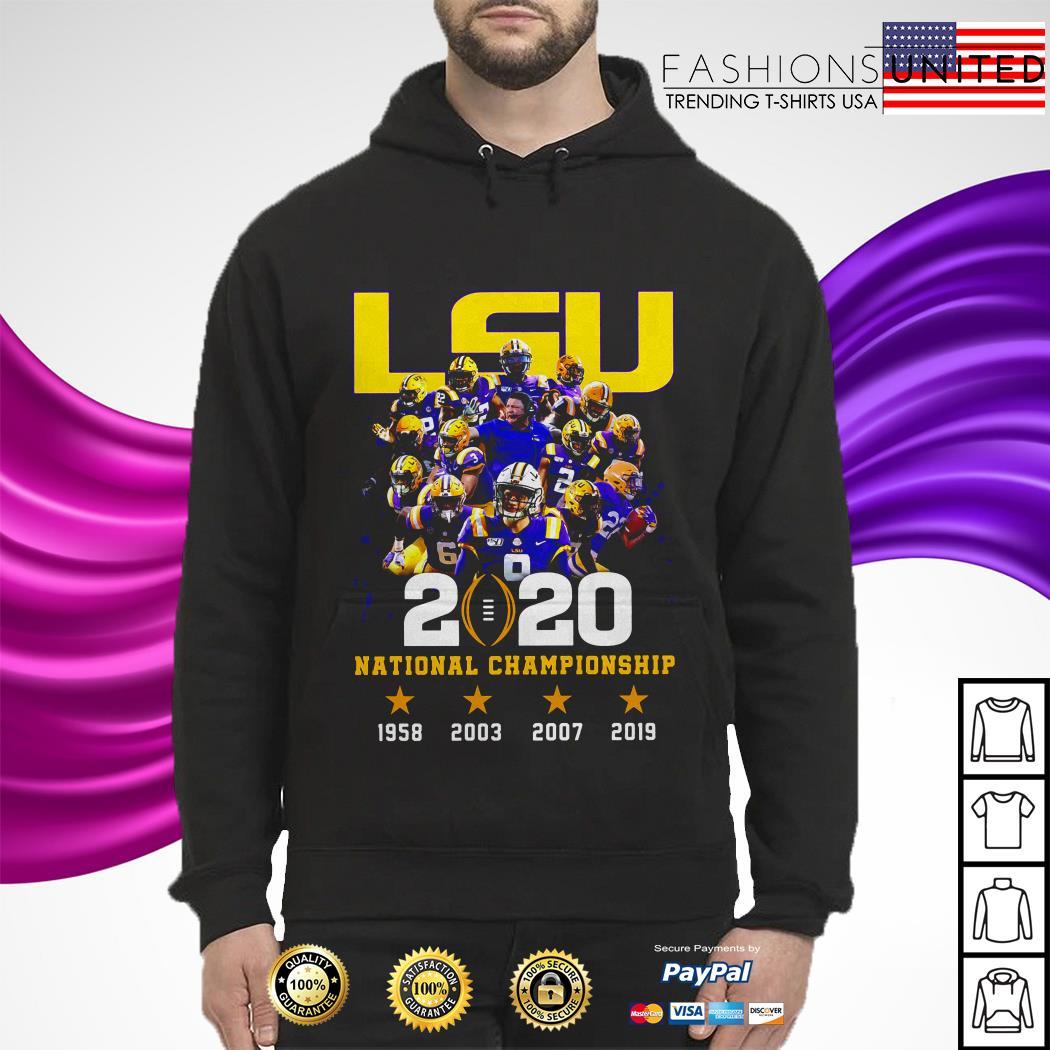 LSU tigers 2020 national championship 1958 2003 2007 2019 hoodie
