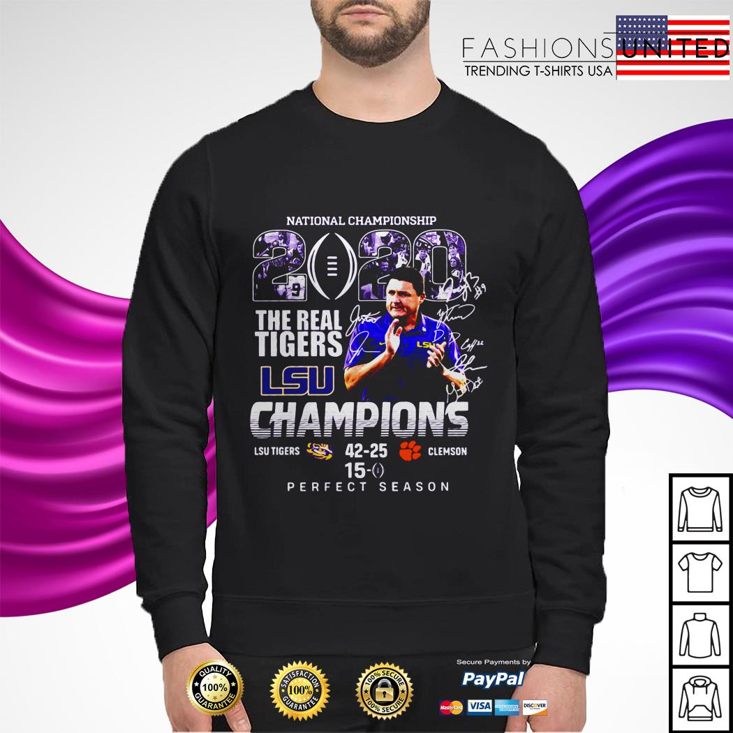 National championship 2020 the real Tigers LSU champions perfect season sweater