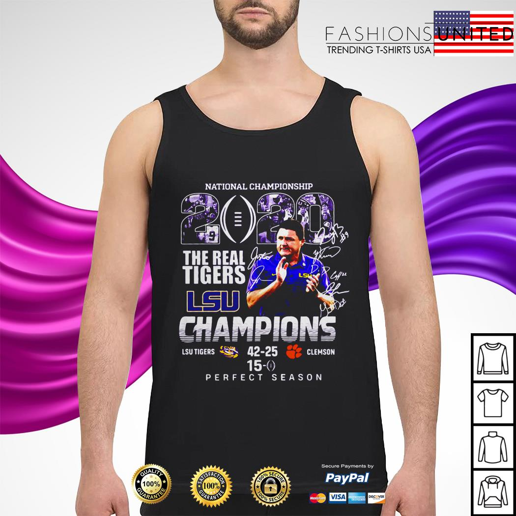 National championship 2020 the real Tigers LSU champions perfect season tank-top